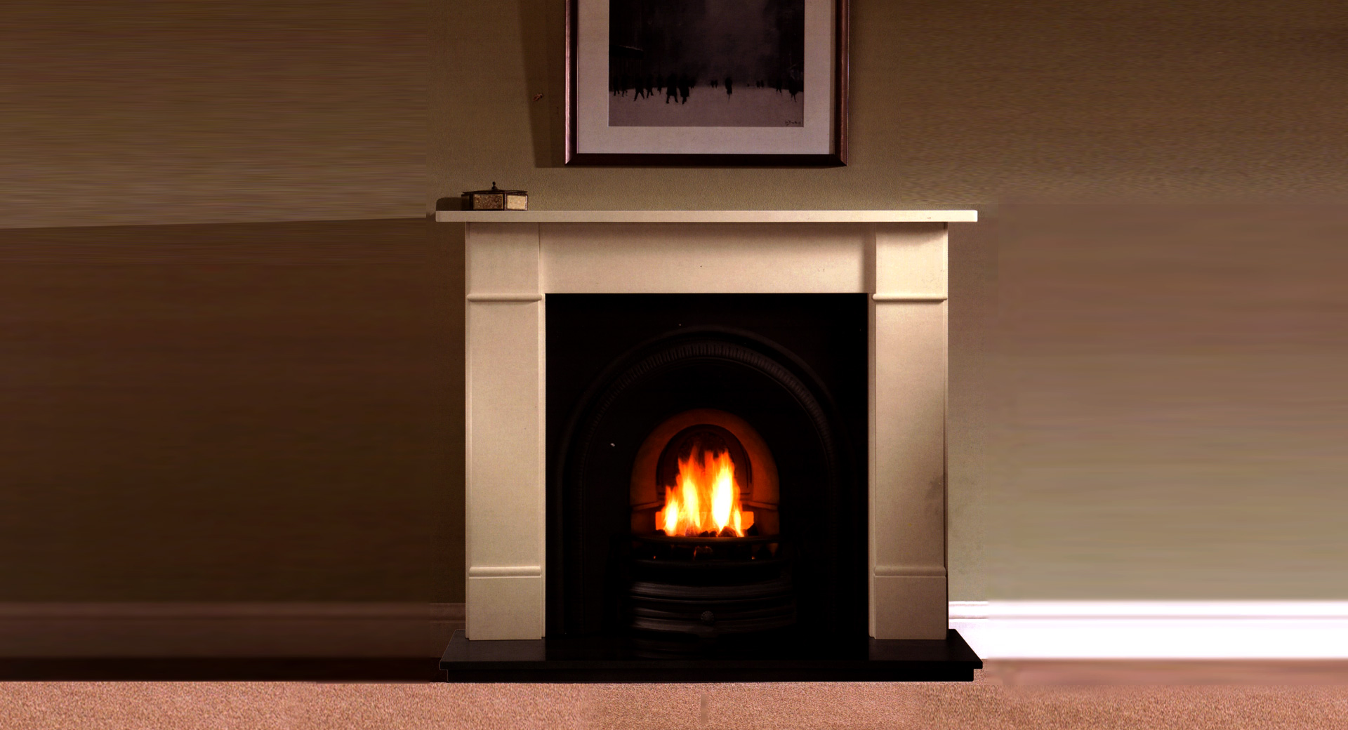 A complete range of period fireplaces